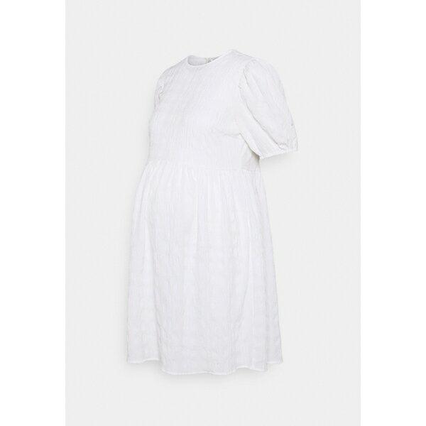 スーツ・セットアップ, ワンピーススーツ  PCMTULLE DRESS - Day dress - bright white