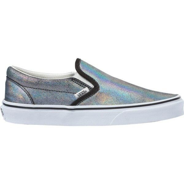 バンズ レディース スニーカー シューズ Vans Classic Slip-On Prism Suede Shoes DarkGreyMetallic画像