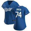 ナイキ レディース ユニフォーム トップス Los Angeles Dodgers Nike Women's Alternate Replica Custom Jersey Royal