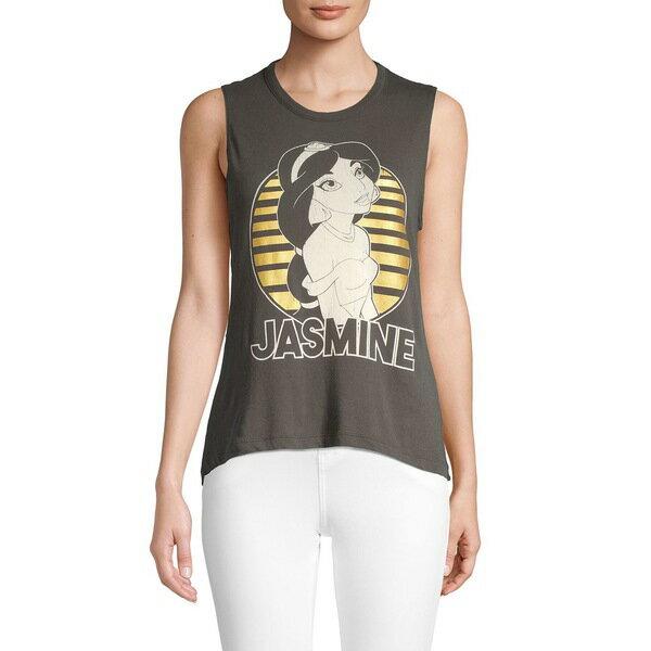 トップス, キャミソール  Jasmine Graphic Cotton Tank Top Black