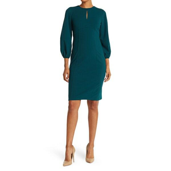 スーツ・セットアップ, ワンピーススーツ  Keyhole Cutout Scuba Crepe Dress -