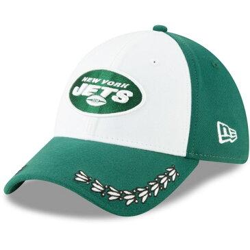 ニューエラ メンズ 帽子 アクセサリー New York Jets New Era 2019 NFL Draft OnStage Official 39THIRTY Flex Hat White