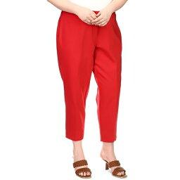 マイケルコース レディース カジュアルパンツ ボトムス Plus Size Cropped Pants Crimson