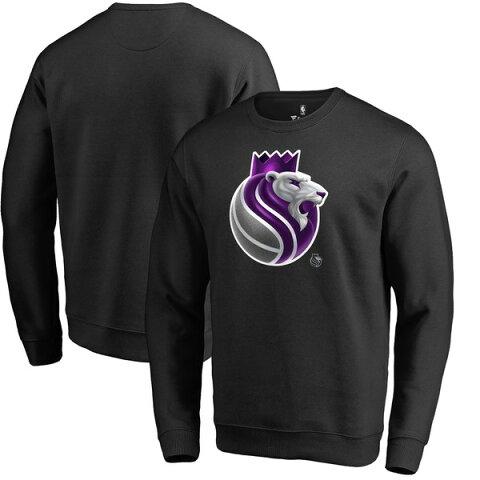 ファナティクス メンズ パーカー・スウェットシャツ アウター Sacramento Kings Fanatics Branded Midnight Mascot Pullover Sweatshirt Black