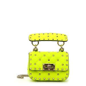 ヴァレンティノ ガラヴァーニ レディース ショルダーバッグ バッグ Micro Rockstud Spike It Leather Shoulder Bag Lime