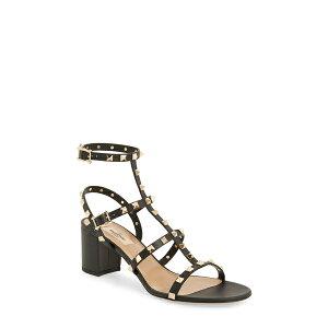 Valentino Garavani Femmes Sandales Chaussures Rockstud Block Heel Sandal Nero