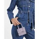 エイソス レディース 財布 アクセサリー ASOS DESIGN grab bag with curved flap and detachable strap in lilac lizard Lilac