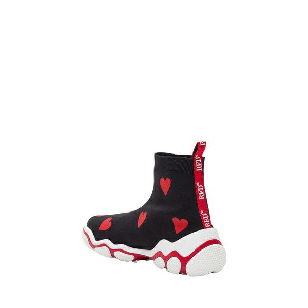 レッドヴァレンティノ レディース スニーカー シューズ RED Valentino Hearts Printed Socks Sneakers Nero