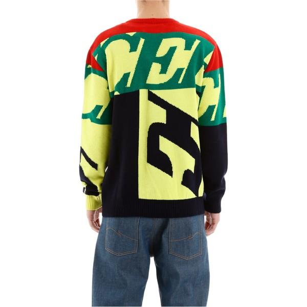 アイスバーグ メンズ ニット&セーター アウター Iceberg Maxi Logo Pullover MULTICOLORBlack