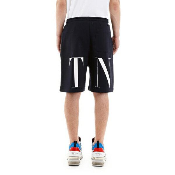 ヴァレンティノ メンズ カジュアルパンツ ボトムス Valentino Vltn Bermuda Shorts NAVYBIANCOBlue