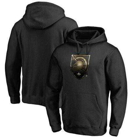 ファナティクス メンズ パーカー・スウェットシャツ アウター Army Black Knights Fanatics Branded Midnight Mascot Pullover Hoodie Black