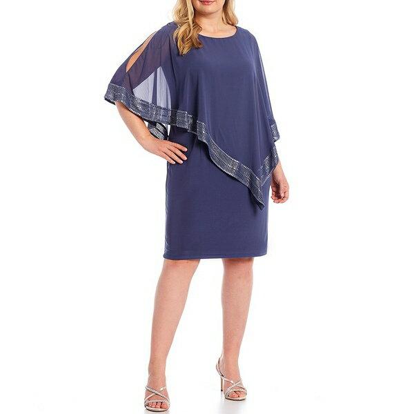 スーツ・セットアップ, ワンピーススーツ  Plus Foil Trim Popover Dress Lilac Haze