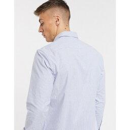 エスプリ メンズ シャツ トップス Esprit shirt in blue vertical stripe Blues