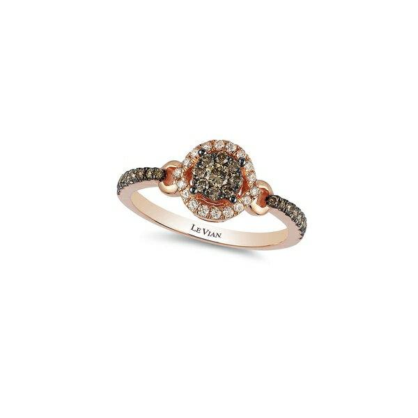 ルヴァン レディース リング アクセサリー Chocolatier Vanilla Diamonds, Chocolate Diamonds and 14K Strawberry Gold Ring Rose Gold