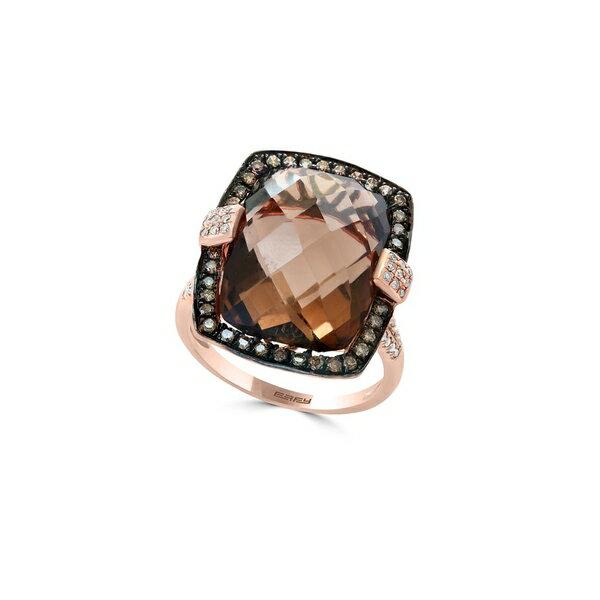 エフィー レディース リング アクセサリー Sienna Diamond, Smoky Quartz and 14K Rose Gold Ring Rose Gold