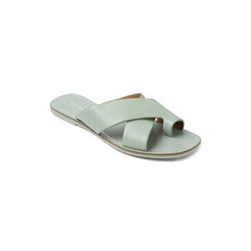 ケンジー レディース サンダル シューズ Nola Leather Crisscross Sandals Green