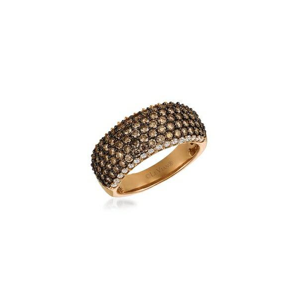 ルヴァン レディース リング アクセサリー 14K Strawberry Gold®, Vanilla Diamond® and Chocolate Diamond® Ring Gold