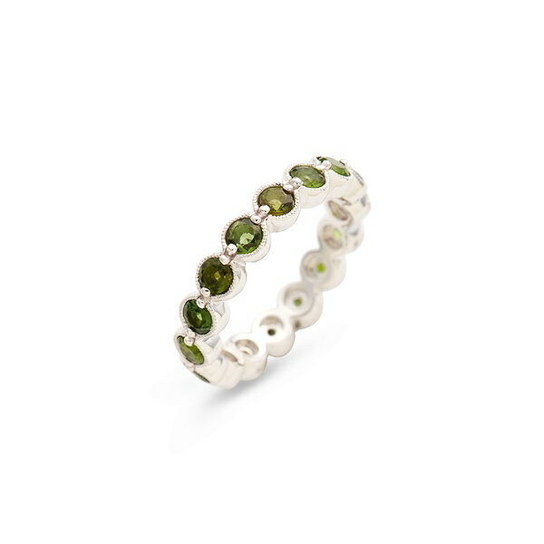ボニー レヴィ レディース リング アクセサリー Bony Levy Green Tourmaline Bezel Set Eternity Ring (Nordstrom Exclusive) White Gold/ Green Tourmaline