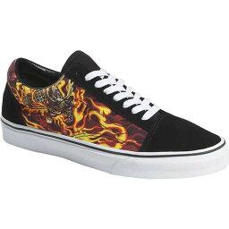 バンズ レディース スニーカー シューズ Vans Old Skool Seasonal Canvas Sneaker (Samurai Rising) Black/True White