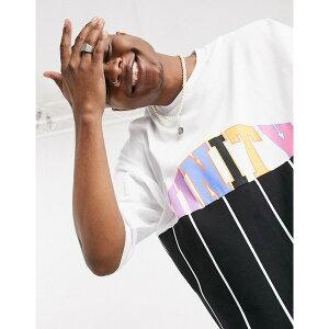 エイソス レディース Tシャツ トップス ASOS DESIGN x glaad unisex oversized t-shirt with unity splice and stripe Multi
