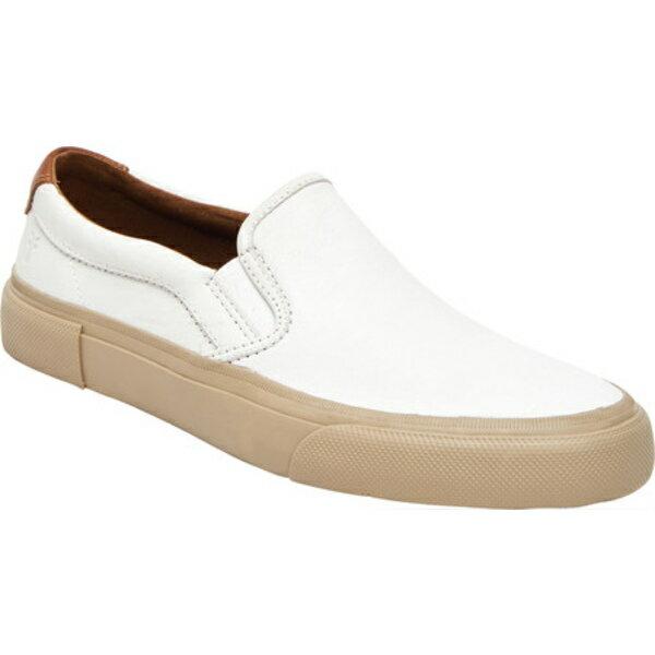メンズ靴, スニーカー  Ludlow Slip On Sneaker White Sheen Leather