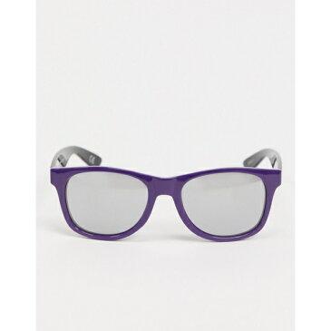 バンズ メンズ サングラス・アイウェア アクセサリー Vans Spicoli 4 sunglasses in purple/black Black