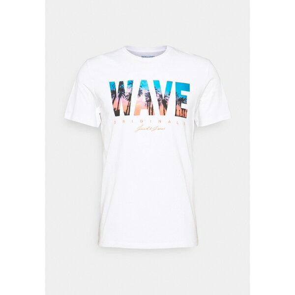 トップス, Tシャツ・カットソー  T JORMALDIVES TEE CREW NECK - Print T-shirt - white