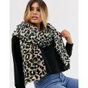 エイソス レディース マフラー・ストール・スカーフ アクセサリー ASOS DESIGN leopard print long scarf Multi 1