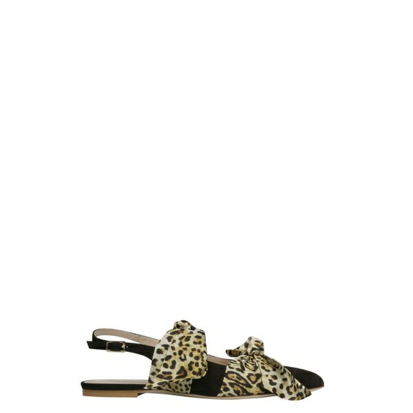 ギア・クチュール レディース サンダル シューズ Gia Couture Eva Ballerina Flat Sandals BlackWhiteLeopardPrint