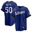 ナイキ メンズ ユニフォーム トップス Mookie Betts Los Angeles Dodgers Nike 2021 City Connect Replica Player Jersey Royal