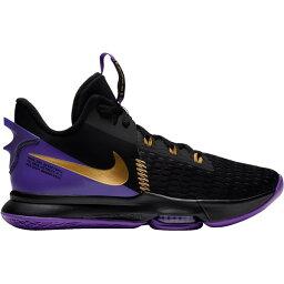 ナイキ メンズ バスケットボール スポーツ Nike LeBron Witness 5 Basketball Shoes Blk/MtlcGld/Purp