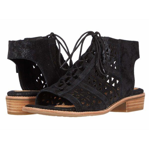 レディース靴, ミュール  Nora Black Distressed Foil Suede