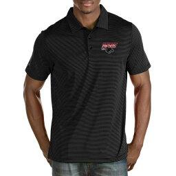 アンティグア メンズ ポロシャツ トップス Clark Atlanta University Panthers Antigua Big & Tall Quest Polo Black/White