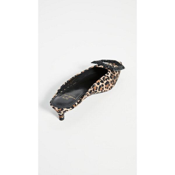 シューコンマボニー レディース サンダル シューズ Leopard Jewel Ornament Mules Brown