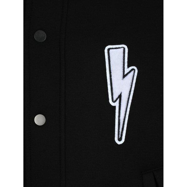 ニールバレット メンズ ジャケット&ブルゾン アウター Neil Barrett Neil Barrett Varsity Bomber Jacket WHITEBLACK