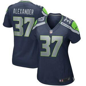 ナイキ レディース ユニフォーム トップス Shaun Alexander Seattle Seahawks Nike Women's Game Retired Player Jersey College Navy