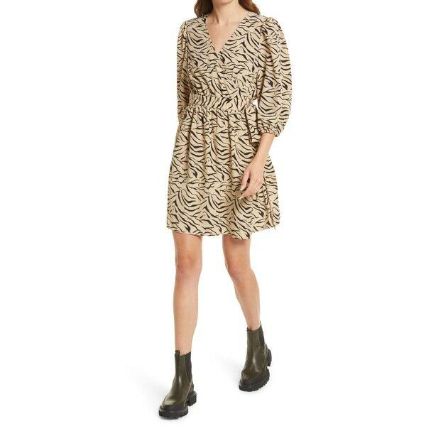 スーツ・セットアップ, ワンピーススーツ  Juno Marbleized Wrap Front Dress Nomad Aop