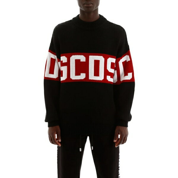 ジーシーディーエス メンズ ニット&セーター アウター GCDS Logo Intarsia Pullover BLACKBlack