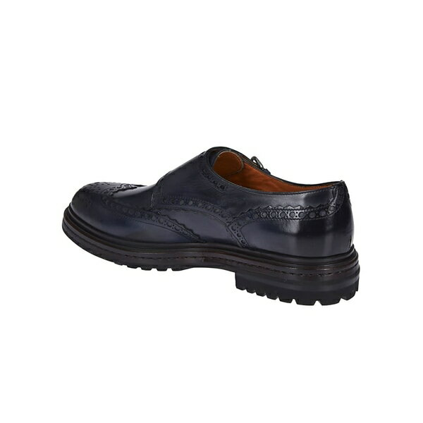 サントーニ メンズ ドレスシューズ シューズ Santoni Double Buckle Perforated Brogue Shoes -
