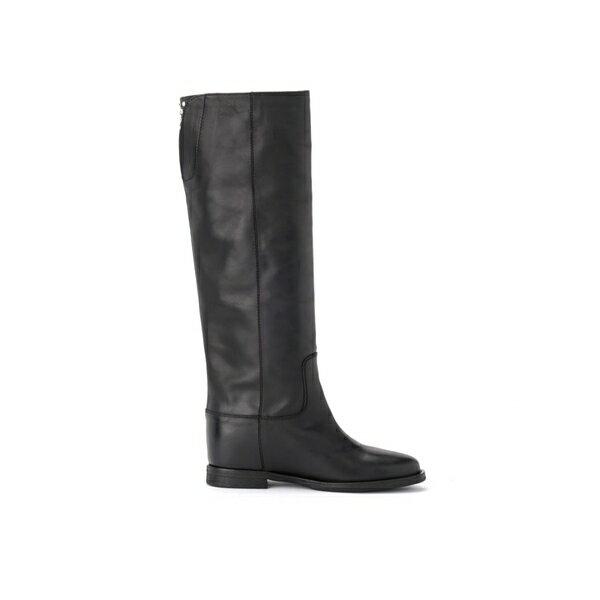 ヴィアローマ15 レディース ブーツ&レインブーツ シューズ Via Roma 15 Black Boot In Leather With Applied Studs NERO