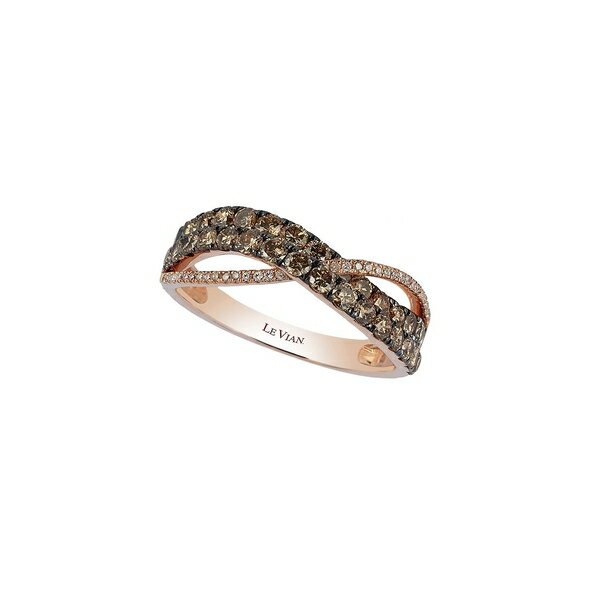 ルヴァン レディース リング アクセサリー Chocolatier 14K Strawberry Gold, Vanilla Diamond & Chocolate Diamond Ring Strawberry Gold