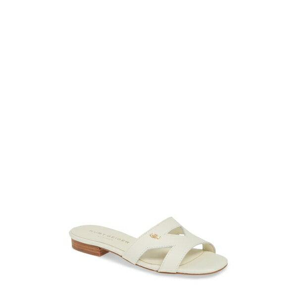 カートジェイガーロンドン レディース サンダル シューズ Odina Cutout Slide Sandal Bone Leather画像