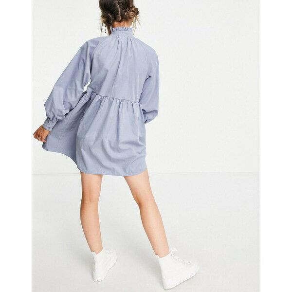 スーツ・セットアップ, ワンピーススーツ  Lola May high neck smock dress in blue Blues