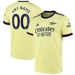 アディダス メンズ ユニフォーム トップス Arsenal adidas 2021 Away Replica Custom Jersey Pearl Citrine
