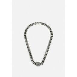 ゲス メンズ ネックレス・チョーカー アクセサリー CURB DOTTED UNISEX - Necklace - antique silver-coloured matt