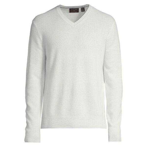 トップス, ニット・セーター 1826 Cashmere V-Neck Sweater Snow