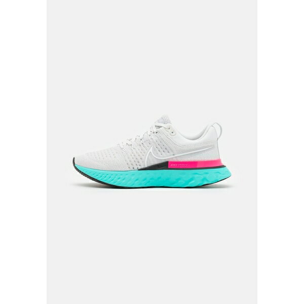 メンズウェア, トップス  REACT INFINITY RUN FK 2 - Neutral running shoes - platinum tintwhitegrey fogdynamic turquoisehyper pinkblack