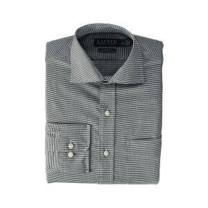 ラルフローレン メンズ シャツ トップス Non-Iron Stretch Twill Holiday Dress Shirt Nero/Optic White