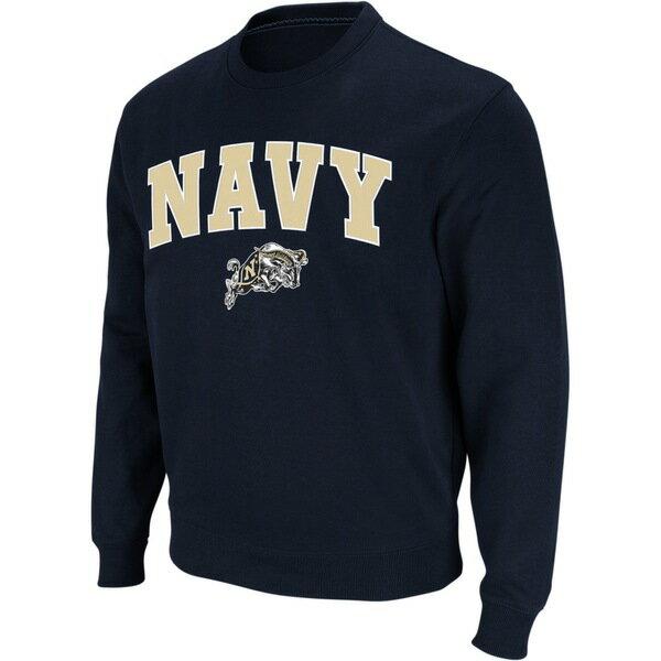 トップス, パーカー  Navy Midshipmen Colosseum Arch Logo Crew Neck Sweatshirt Navy