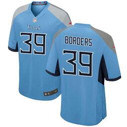 ナイキ メンズ ユニフォーム トップス Tennessee Titans Nike Alternate Custom Game Jersey Light Blue